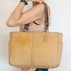 RARE Coach Chelsea Pebble Nubuck Leather Tote Bag